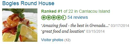 High quality restaurant on Carriacou island, the round house.